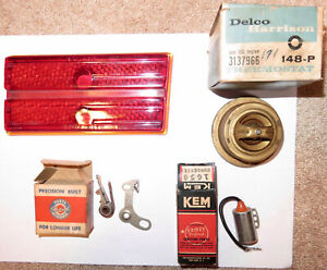 Vintage 1940s Lot Packard Accessories Parts Glass 1946 7 Tail Light Box Car Auto