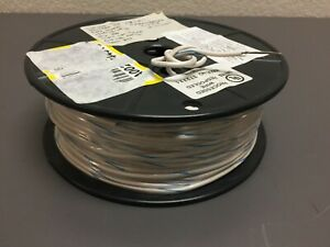 Mtw ul1015 18 Awg Tinned Copper Hookup Wire White With Blue Stripe 300ft