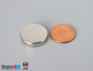 20mm X 5mm 13 16 X 2 10 N45 Rara Earth Neodymium Thin Magnet Disc