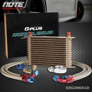 15 Row An10 Universal Engine Oil Cooler Filter Adapter Kit 2 Oil Lines
