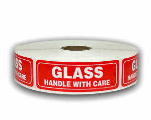 5 Rolls Glass Handle W Care Fragile Shipping Stickers 1 X 3 100 Labels
