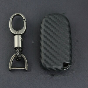 Carbon Fiber Key Fob Cover For Jeep Grand Cherokee Compass Renegade Dodge Durang