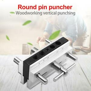 Woodworking Vertical Hole Punch Locator Puncher Doweling Jig Drill Guide jd