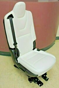 Fold Down Tesla Model X Second 2nd Row Rh Seat Right Side Folding Leather White
