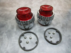 1962 Plymouth Fury Sport Belvedere Savoy Inner Tail Light Pair Nos