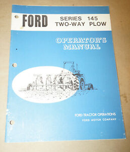 Ford Series 145 Two way Plow Operator s Manual P n 42014510
