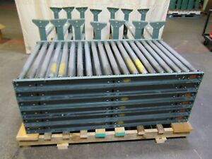 6 Sections Of 5 Hytrol Gravity Roller Conveyor With Legs 36 Wide