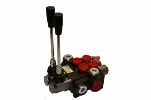 Hydraulic Control Valve Two Spool 10 Gpm W float Spool 3625 Psi Max Open Center
