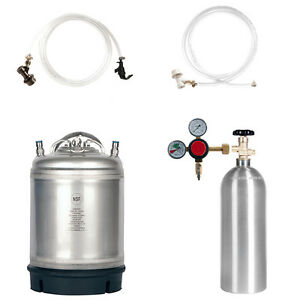 Keg Kit 2 5 Gal Ball Lock Keg 5 Lb Co2 Tank Regulator Parts Homebrew Beer