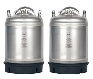 2 Pack New 2 5 Gallon Ball Lock Kegs Homebrew Beer Cold Brew Free Shipping