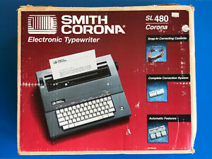 Smith Corona Sl 480 Model 5a Electric Typewriter With Case tested