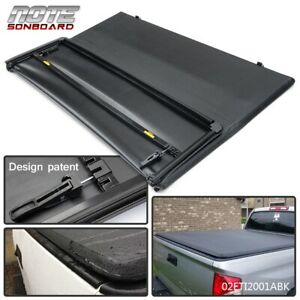 Tonneau Cover Tri Fold For Toyota Tacoma Pickup Truck Double Cab 5ft Short Bed