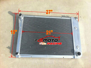 3 Row Radiator For 68 74 Chevy Nova Pro Camaro Bel Air Camino Buick Apollo Regal