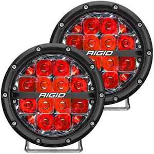 Rigid Industries 360 Series Round Led Lights 6 Spot Red