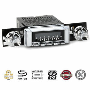 Retrosound 1963 64 Chevrolet Chevy Car Laguna Radio Am Fm Aux Retroradio Stereo