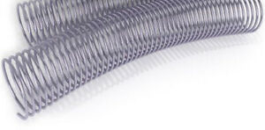 Silver 38mm Spiral Binding Coils 75 Piece Lot 4 1 Pitch