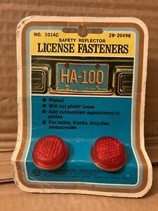 New Vintage License Plate Jewel Reflectors Fasteners Harley Indian Accessory