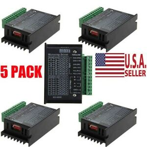 5x Cnc Single Axis 4a Tb6600 2 4 Phase Hybrid Stepper Motor Drivers Controller