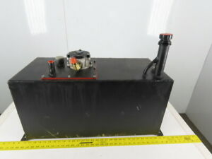 Hyster V40xmu 19 Gallon Hydraulic Holding Tank Reservoir From Forklift