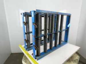 Enersys Pro Series 30 X 40 Deep Forklift Battery Roller Stand Pallet Lot Of 2
