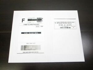 100 Single Side Self Adhesive Paypal Shipping Postage Labels W Receipt Side
