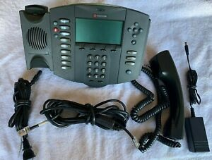 Lot Of 5 Polycom Soundpoint Ip 501 Sip Voip Phone Poe 2201 11501 001