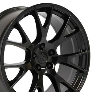 20 Rims Fit Dodge Charger Challenger Hellcat Wheels Gloss Black 2528