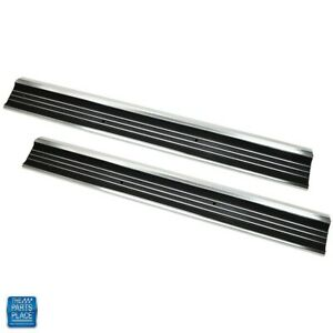 1968 1977 Corvette Door Sill Plate Carpet Molding Replaces Gm 3912660 Pair