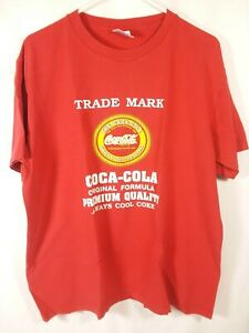 Vintage Coca Cola T Shirt Men Large Coke Soda Party Original Trade Mark 12/18E