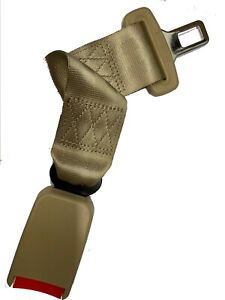 Extension 14 Safety Seat Belt Beige Extender Belt With Buckle Clip Wide 7 8