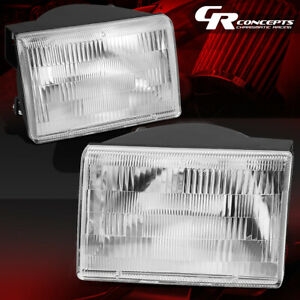 Pair Of Chrome Housing Clear Lens Headlights For 1993 1998 Jeep Grand Cherokee