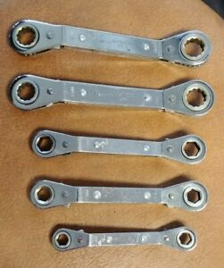 Matco Tools 5 Piece Metric Offset Reversible Ratcheting Wrench Set 9mm 18mm