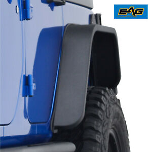 Eag Fit 07 18 Jeep Wrangler Jk Steel Edge Rear 2pcs Fender Flares