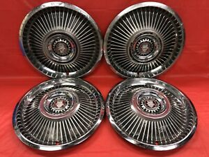Vintage Set Of 4 1969 Mercury Cougar Xr7 14 Hubcaps