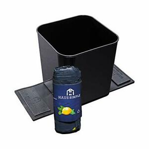 Car Trash Can Garbage Bin Container Waste Basket Auto Spill Proof With Bag Black
