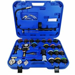 28pc Adapters Radiator Pressure Tester Test Kit Coolant Vacuum Purge Refill New