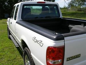 Stampede Black Rail Topz Bed Rail Cap W Stake Holes For 93 11 Ford Ranger
