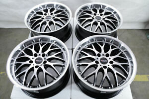 17 Wheels Mercedes E320 E350 Gla250 Audi A4 Tiguan Mini Cooper Black Rims 5x112