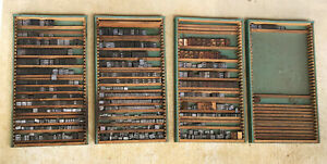 Letterpress Lead Type Line O Scribe News Agency Gothic W wood Metal