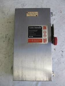 Eaton Dh363uwk 100a 600v Non Fusible Disconnect Stainless Steel Switch 100 Amp