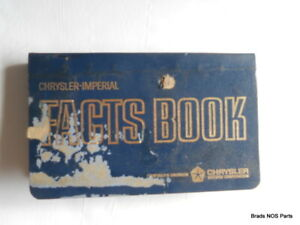 Nos Mopar 1964 Chrysler Imperial All Models Pocket Size Dealer Facts Book