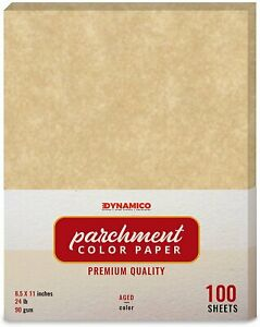 Aged Stationery Parchment Colored Regular Paper 8 5 X 11 100 Sheets