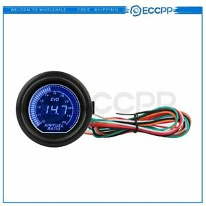 2 52mm Blue Digital Led Car Auto Afr Air Fuel Ratio Gauge Meter 6258 7