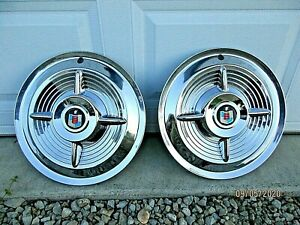 1956 Mercury Accessory Spinner Flipper Hub Caps Wheelcovers Hubcaps Custom Nice