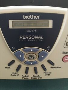 Brother Fax 575 Personal Plain Paper Fax Machine Phone And Copier