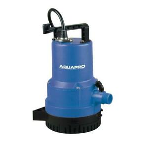 Aquapro Utility Pump Dual Function Corrosion Resistant Thermoplastic Portable