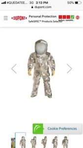End Of The World Chemical Suit Rf600t Sv Dupont Tychem 10000 Fr Size L