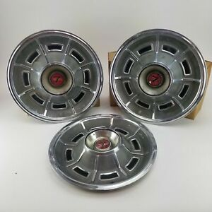 1971 1973 Mercury Cougar Xr7 14 Hubcaps Vintage Rim Wheel Cover Set Of 3