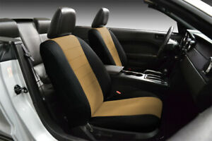 Front Custom Fit Black Tan Neoprene Seat Covers For 1995 2000 Chevy Silverado