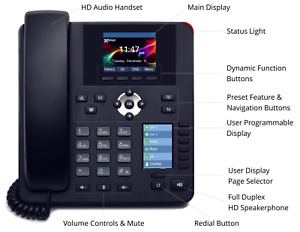 Xblue Ip7g Black Business Grade Gigabit Color Ip Voip Phone Telephone